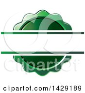 Clipart Of A Blank Banner Over A Green Wax Seal Or Badge Royalty Free Vector Illustration by Lal Perera