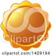 Clipart Of A Blank Orange Wax Seal Or Badge Royalty Free Vector Illustration by Lal Perera
