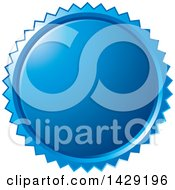 Clipart Of A Blue Burst Badge Royalty Free Vector Illustration by Lal Perera