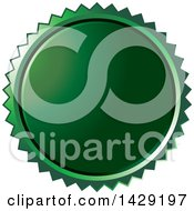 Clipart Of A Green Burst Badge Royalty Free Vector Illustration by Lal Perera