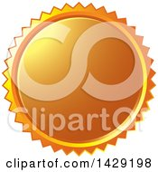 Clipart Of An Orange Burst Badge Royalty Free Vector Illustration by Lal Perera