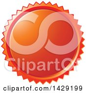 Clipart Of A Red Burst Badge Royalty Free Vector Illustration by Lal Perera