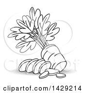 Black And White Sliced Carrot