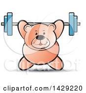 Clipart Of A Bear Working Out With A Barbell Royalty Free Vector Illustration by Lal Perera