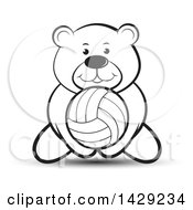 Black And White Bear Playing Volleyball
