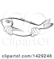 Black And White Hands Holding A Fish