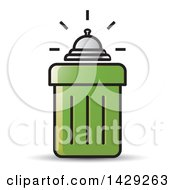 Clipart Of A Bell On A Trash Can Royalty Free Vector Illustration by Lal Perera