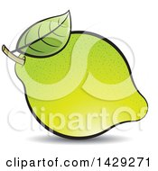 Clipart Of A Lemon Royalty Free Vector Illustration by Lal Perera