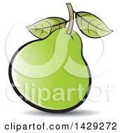 Clipart Of A Pear Royalty Free Vector Illustration by Lal Perera