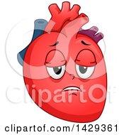 Tired Heart Organ Mascot