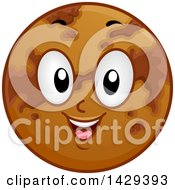 Clipart Of A Cartoon Happy Planet Venus Mascot Royalty Free Vector Illustration