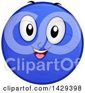 Clipart Of A Cartoon Happy Planet Naptune Mascot Royalty Free Vector Illustration