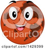 Clipart Of A Cartoon Happy Planet Mars Mascot Royalty Free Vector Illustration