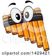 Clipart Of A Pan Flute Instrument Mascot Royalty Free Vector Illustration