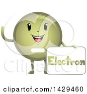Clipart Of A Happy Electron Atomic Particle Mascot Royalty Free Vector Illustration
