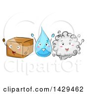 Box A Water Droplet And A Cloud Of Gas Demonstrating The Phases Of Matters