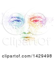 Clipart Of A Colorful Face On White Royalty Free Vector Illustration by BNP Design Studio