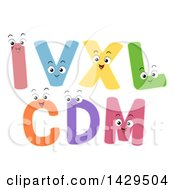 Happy Roman Numeral Characters