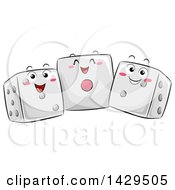 Trio Of Happy Dice Mascots