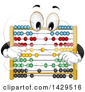 Clipart Of A Cartoon Abacus Character Royalty Free Vector Illustration by BNP Design Studio