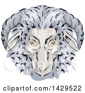 Clipart Of A Wooly Gay Ram Head Royalty Free Vector Illustration by BNP Design Studio