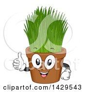 Potted Wheatgrass Mascot