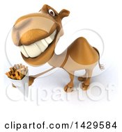 Clipart Of A 3d Camel On A White Background Royalty Free Illustration