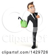 Clipart Of A 3d Young White Business Man On A White Background Royalty Free Illustration