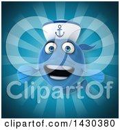 3d Blue Sailor Fish