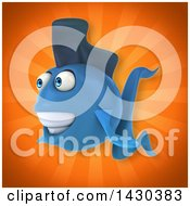 3d Blue Fish
