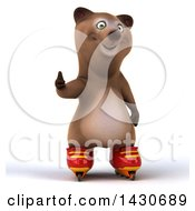 Clipart Of A 3d Brown Bear On A White Background Royalty Free Illustration