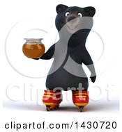Clipart Of A 3d Black Bear On A White Background Royalty Free Illustration