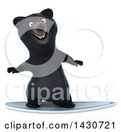 Clipart Of A 3d Black Bear On A White Background Royalty Free Illustration by Julos