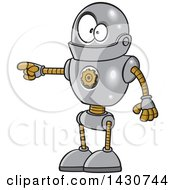 Cartoon Goofy Robot Doing The Pull My Finger Joke