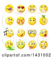 Cartoon Yellow Emoji Smiley Face Emoticons