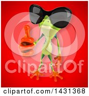 Clipart Of A 3d Argie Frog Royalty Free Illustration