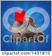 3d Elephant Holding A Shopping Bag