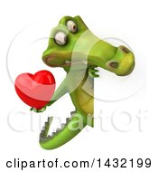 Poster, Art Print Of 3d Crocodile On A White Background