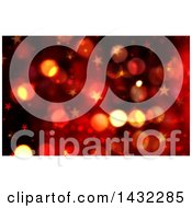 Clipart Of A Red And Gold Star And Bokeh Flare Background Royalty Free Illustration