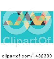 Clipart Of A Geometric Abstract Blue And Colorful Business Card Or Website Background Design Royalty Free Vector Illustration