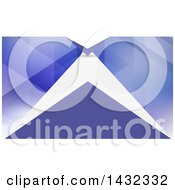 Clipart Of A Business Card Or Website Background Design Of Geometric White And Purple Royalty Free Vector Illustration