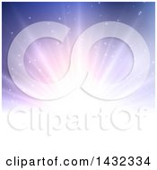 Clipart Of A Background Of Sun Rays On Purple Royalty Free Vector Illustration