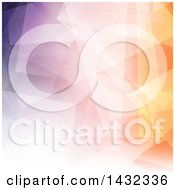 Clipart Of A Low Poly Geometric Background Royalty Free Vector Illustration