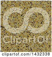 Clipart Of A Background Of Golden Glitter Or Dots Royalty Free Vector Illustration