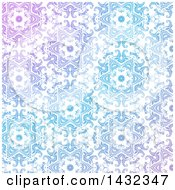 Clipart Of A Decorative Gradient Blue And Purple Pattern Background Royalty Free Vector Illustration