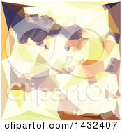 Clipart Of A Low Poly Abstract Geometric Background In Golden Wheat Royalty Free Vector Illustration
