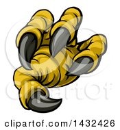 Clipart Of A Cartoon Eagle Claw And Sharp Talons Royalty Free Vector Illustration