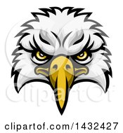 Clipart Of A Cartoon Bald Eagle Mascot Face Royalty Free Vector Illustration