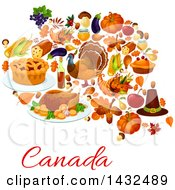 Clipart Of A Canadian Thanksgiving Design Royalty Free Vector Illustration by Vector Tradition SM