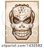 Halftone Lizard Man Skull Poster Design